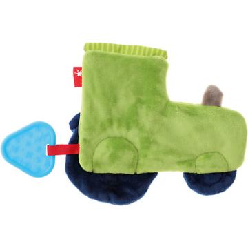 Aktiv-Knistertuch Traktor grün-kombi