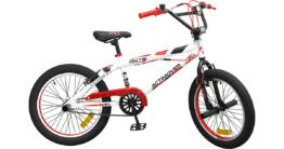 Fahrrad BMX 20 Zoll Fat Bike rot/weiß