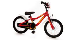 Fahrrad Feuerwehr mit reflektierenden Sticker, 16 Zoll rot