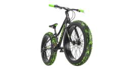 Jugendfahrrad Fatbike 24'' Crusher Schwarz RH 30 cm Mountainbikes schwarz