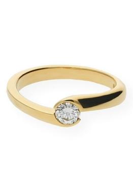 JuwelmaLux Goldring »Ring Gelbgold 585er 14 Karat mit Brillant 0,30 ct.«