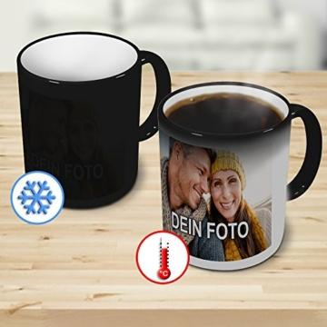 PhotoFancy® - Zaubertasse mit Foto Bedrucken Lassen - Magic Mug Personalisieren – Fototasse Zauberbecher selbst gestalten - 3