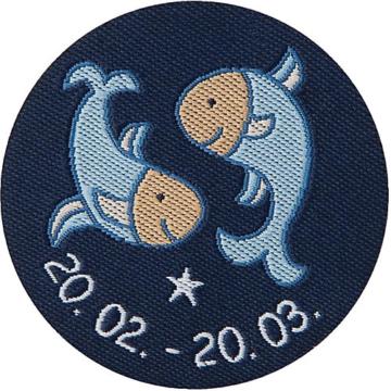 Schmusetuch Sternzeichen Fische, blau (48827)