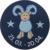Schmusetuch Widder, blau (48828)