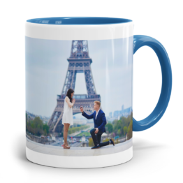 Zweifarbtasse Cambridge Blau