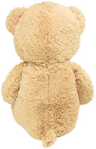 BRUBAKER XXL Teddybär 100 cm groß Beige mit einem Ich Liebe Dich Herz Stofftier Plüschtier Kuscheltier - 4