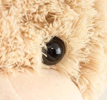 BRUBAKER XXL Teddybär 100 cm groß Beige mit einem Ich Liebe Dich Herz Stofftier Plüschtier Kuscheltier - 8