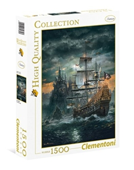 "Clementoni 31682.3 - Puzzle ""High Quality Kollektion - Das Piratenschiff"", 1500 Teile - 1"