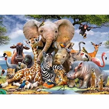 Coolzon Jigsaw Puzzle 1000 Teile, 1000 Stück Puzzles für Erwachsene Kinder Freunde, Intellektuelles Psychedelisches Kartenspiel(Tierwelt) - 1