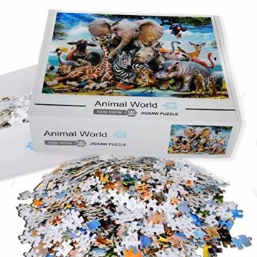 Coolzon Jigsaw Puzzle 1000 Teile, 1000 Stück Puzzles für Erwachsene Kinder Freunde, Intellektuelles Psychedelisches Kartenspiel(Tierwelt) - 7