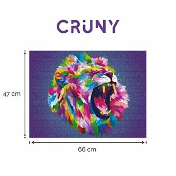 Cruny Puzzle 1000 Teile für Erwachsene - Magischer Löwe in 3D - Tolle Wanddekoration, 1000 Teile Puzzle, Puzzle Erwachsene 1000 Teile, Puzzle 1000 Teile Tiere, Puzzle Löwe 1000 Teile, 66x47cm - 2