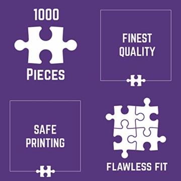 Cruny Puzzle 1000 Teile für Erwachsene - Magischer Löwe in 3D - Tolle Wanddekoration, 1000 Teile Puzzle, Puzzle Erwachsene 1000 Teile, Puzzle 1000 Teile Tiere, Puzzle Löwe 1000 Teile, 66x47cm - 7