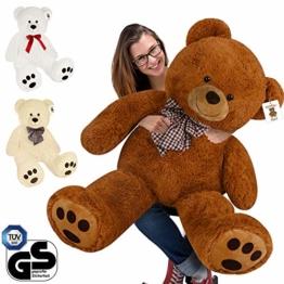 Deuba Riesen Teddy Bär XL-XXXL Teddybär 100-175cm samtig weich Plüsch Kuscheltier Plüschbär Farbwahl - 1