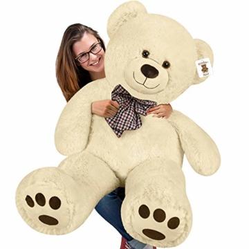 Deuba Riesen Teddy Bär XL-XXXL Teddybär 100-175cm samtig weich Plüsch Kuscheltier Plüschbär Farbwahl - 5