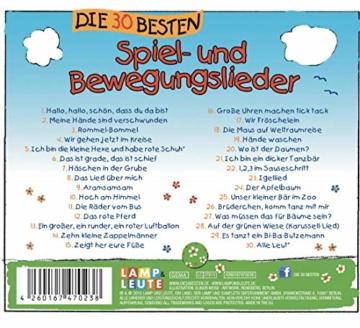 Die 30 besten Spiel- und Bewegungslieder -  Kinderlieder und Babylieder - 3