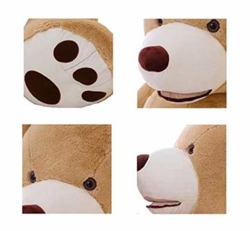 DOLDOA Riesen Teddybär 130cm Groß Plüschbär XXL Teddy Kuschelbär Valentins Geschenk für Freundin Kinder Braun - 3