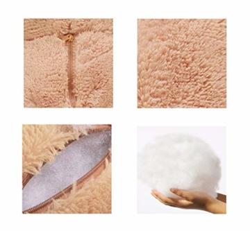 DOLDOA Riesen Teddybär 130cm Groß Plüschbär XXL Teddy Kuschelbär Valentins Geschenk für Freundin Kinder Braun - 5