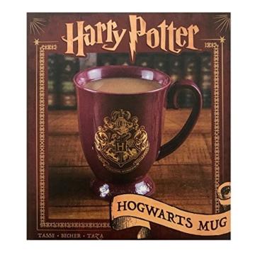 HARRY POTTER Original Hogwarts Tasse aus Keramik mit goldenem Wappen, Mehrfarbig 9cm x 12 cm x 11 cm - 2
