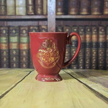 HARRY POTTER Original Hogwarts Tasse aus Keramik mit goldenem Wappen, Mehrfarbig 9cm x 12 cm x 11 cm - 4