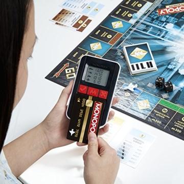 Hasbro Monopoly Banking Ultra - Klassiker der Brettspiele mit elektronischem Kartenleser, Familienspiel ab 8 Jahren - 8