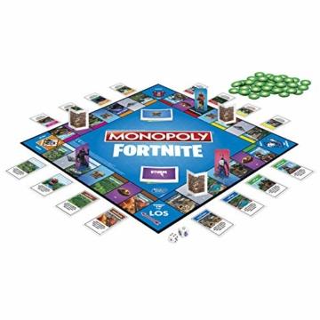 Hasbro Monopoly E6603100 Monopoly Fortnite Edition, Familienspiel, Multicolor - 2
