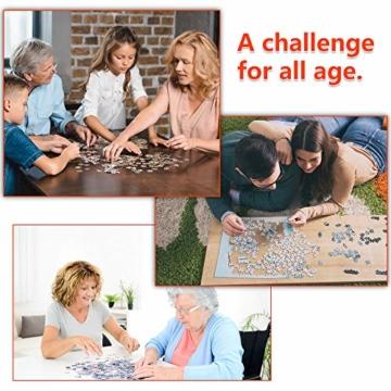 HUADADA Puzzle 1000 Teile ,Puzzle für Erwachsene, Runde Puzzle farbenfrohes Legespiel ,Geschicklichkeitsspiel für die ganze Familie, Regenbogen Puzzle,Erwachsenenpuzzle ab 12 Jahren. - 7