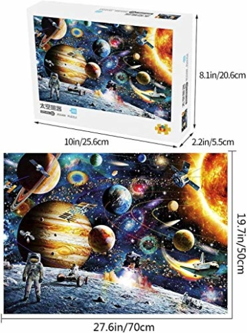 HUADADA Puzzle 1000 Teile Puzzle Star Wars 1000 Teile Herausforderung Puzzle 1000 Teile Weltraum Puzzle für Erwachsene 1000 Teile Das Sonnensystem Planeten im Weltraum das Puzzlespiel Jigsaw Puzzle - 3