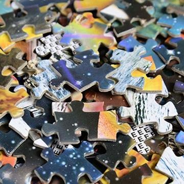 HUADADA Puzzle 1000 Teile Puzzle Star Wars 1000 Teile Herausforderung Puzzle 1000 Teile Weltraum Puzzle für Erwachsene 1000 Teile Das Sonnensystem Planeten im Weltraum das Puzzlespiel Jigsaw Puzzle - 6