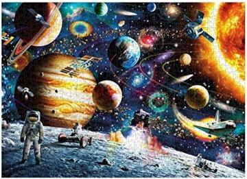 HUADADA Puzzle 1000 Teile Puzzle Star Wars 1000 Teile Herausforderung Puzzle 1000 Teile Weltraum Puzzle für Erwachsene 1000 Teile Das Sonnensystem Planeten im Weltraum das Puzzlespiel Jigsaw Puzzle - 7
