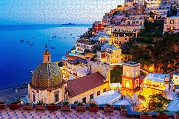 HUADADA Puzzle 1000 Teile,Impossible Puzzle,farbenfrohes Legespiel, Fantasy Positano Signature Twilight Große Puzzle,für Kinder ab 8 Jahre Puzzles - 2