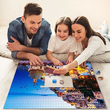 HUADADA Puzzle 1000 Teile,Impossible Puzzle,farbenfrohes Legespiel, Fantasy Positano Signature Twilight Große Puzzle,für Kinder ab 8 Jahre Puzzles - 3