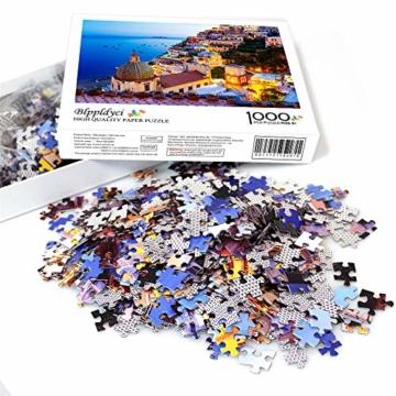 HUADADA Puzzle 1000 Teile,Impossible Puzzle,farbenfrohes Legespiel, Fantasy Positano Signature Twilight Große Puzzle,für Kinder ab 8 Jahre Puzzles - 5