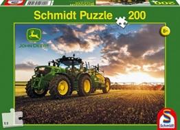 John Deere, Traktor 6150R mit Feldspritze, 200 Teile Kinderpuzzle - 1