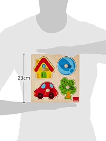 Jumbo Spiele D53015 Holzpuzzle Zuhause Holzspielzeug für Kleinkinder, Ab 1 Jahr - 2