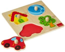 Jumbo Spiele D53015 Holzpuzzle Zuhause Holzspielzeug für Kleinkinder, Ab 1 Jahr - 1