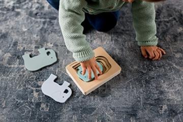 Kindsgut Tier-Puzzle, Lagen-Puzzle, Motorik-Spielzeug aus Holz, praktische Größe für zuhause und unterwegs, Elefant - 4