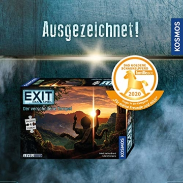KOSMOS 692094 EXIT - Das Spiel + Puzzle - Der verschollene Tempel, Level: Einsteiger, Escape Room Spiel mit Puzzle - 12