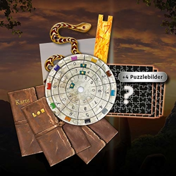 KOSMOS 692094 EXIT - Das Spiel + Puzzle - Der verschollene Tempel, Level: Einsteiger, Escape Room Spiel mit Puzzle - 3