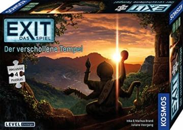 KOSMOS 692094 EXIT - Das Spiel + Puzzle - Der verschollene Tempel, Level: Einsteiger, Escape Room Spiel mit Puzzle - 1