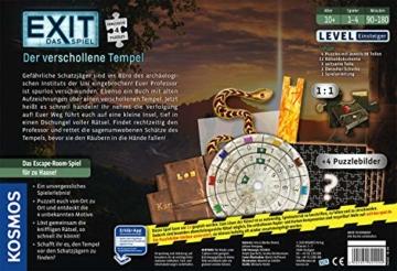 KOSMOS 692094 EXIT - Das Spiel + Puzzle - Der verschollene Tempel, Level: Einsteiger, Escape Room Spiel mit Puzzle - 8