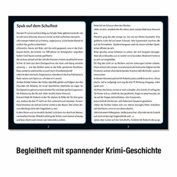 Kosmos 697983 - Krimi Puzzle: Die ??? Kids - Spuk auf dem Schulfest, Leuchtet im Dunkeln, 200 Teile, Lesen - Puzzeln - Rätsel lösen, für Kinder ab 8 Jahre - 5