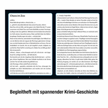 KOSMOS 697990 - Krimi Puzzle: Die ??? Kids - Chaos im Zoo, Leuchtet im Dunkeln. 150 Teile, Lesen - Puzzeln - Rätsel lösen, für Kinder ab 7 Jahre - 2