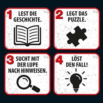 KOSMOS 697990 - Krimi Puzzle: Die ??? Kids - Chaos im Zoo, Leuchtet im Dunkeln. 150 Teile, Lesen - Puzzeln - Rätsel lösen, für Kinder ab 7 Jahre - 6