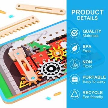 LUKAT Holzpuzzle für Kinder, 3D Holzspielzeug Puzzle von 4 Automuster für Jungen und Mädchen Lernspielzeug Pädagogisches Geschenk für Kinder ab 3 4 5 6 Jahre - 3