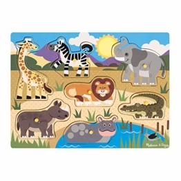 Melissa & Doug Steckpuzzle aus Holz - Safaritiere (7 Teile) - 1