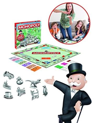 Monopoly Classic, Gesellschaftsspiel für Erwachsene & Kinder, Familienspiel, der Klassiker der Brettspiele, Gemeinschaftsspiel für 2 - 6 Personen, ab 8 Jahren - 4