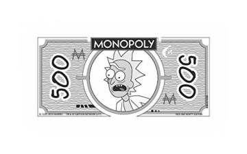 Monopoly - Rick and Morty - Deutsch - 6 Sammler Spielfiguren | Gesellschaftsspiel | Brettspiel - 2