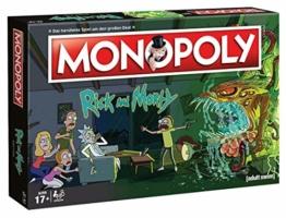 Monopoly - Rick and Morty - Deutsch - 6 Sammler Spielfiguren | Gesellschaftsspiel | Brettspiel - 1