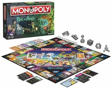Monopoly - Rick and Morty - Deutsch - 6 Sammler Spielfiguren | Gesellschaftsspiel | Brettspiel - 6