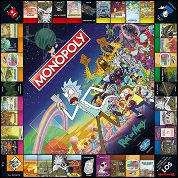 Monopoly - Rick and Morty - Deutsch - 6 Sammler Spielfiguren | Gesellschaftsspiel | Brettspiel - 7